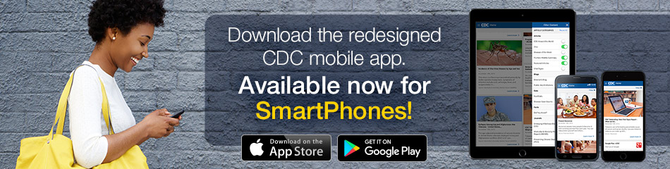 Redesigned CDC Mobile App