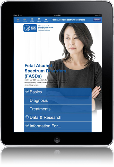 CDC Fetal Alcohol Spectrum Disorders iPad Application