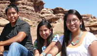 Photo: American Indian teenagers