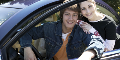 teenagers with a car