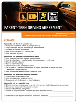 Thumbnail image of the Parent-Teen Driving Agreement PDF