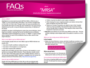 MRSA fact sheet