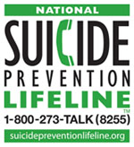 National Suicide Prevention Lifeline: 800-273-8255, www.SuicidePreventionLifeline.org