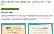 Mumps Social Media Toolkit: Don't let mumps ruin your fun (ACHA)