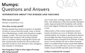 Questions and Answers on Mumps from IAC
