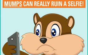 Mumps web graphic: Mumps can really ruin a selfie