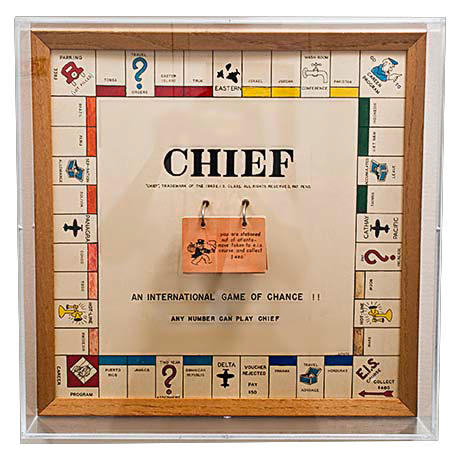 The gift created by the 1963 EIS class was a plaque in the format of an ersatz monopoly board.