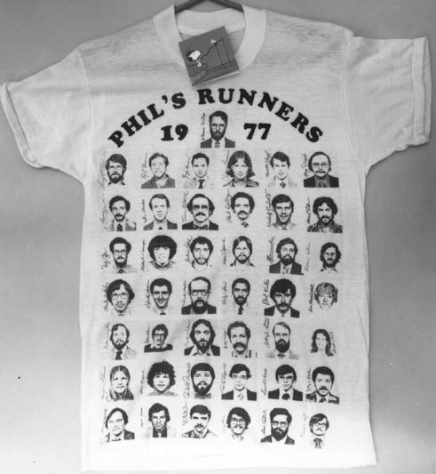 The T-shirt was made for Phillip Brachman, who was director of the EIS at the time and it was for the EIS Conference Fun Run.