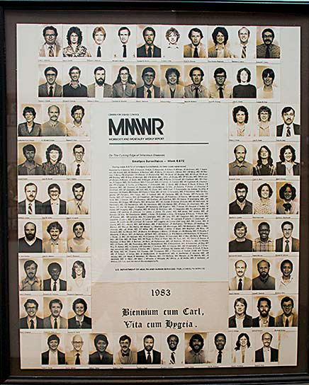 The MMWR portrayed with our class picture represents a satirical publication consisting of