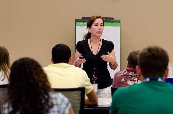 Dr. Fatima Cornado told stories about outbreaks from all over the nation in her Thinking Like an Epidemiologist lecture.