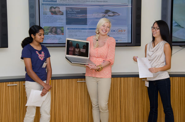 Group presents findings during environmental health session.