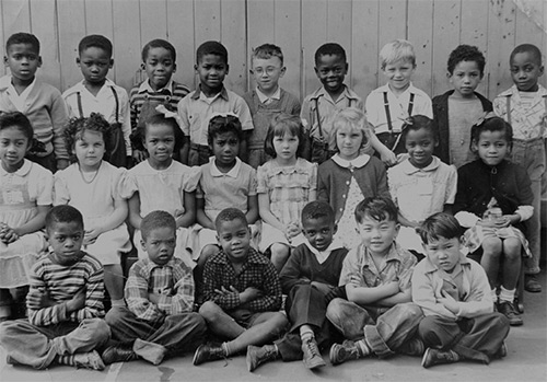 Shades of San Francisco, San Francisco Public Library - Class photograph, Emerson Elementary School, ca. 1947, reflecting San Francisco's racial and ethnic diversity - Whether children have a healthy start is determined, in part, by the environmental safety of where they live, where they are educated, and whether they have access to healthy foods and health care.