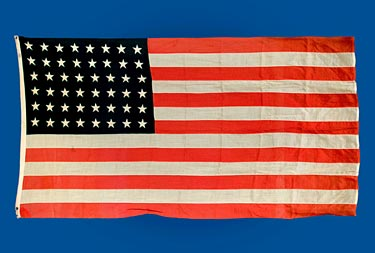 The First American Flag flown over CDC Headquarters is all wool and measures 60″ high by 114″ wide.