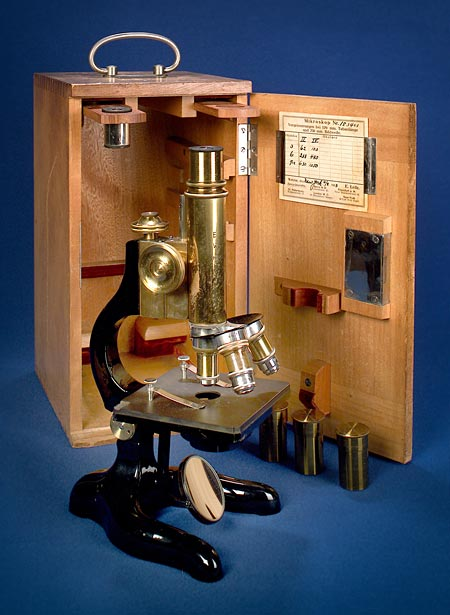 E. Leitz-Wetzlar microscope, used by Dr. Mountin in medical school and in his early career as a physician. Gift of Daniel Joseph Mountin, Jr. and Ms. Joan Hopke, 2002