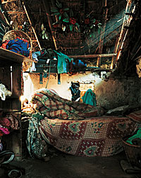 Photograph of where a Nepalese child sleeps