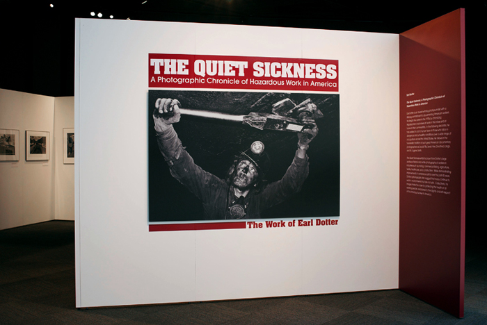 The Quiet Sickness exhibition installation
