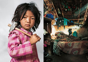Two photos from Where Children Sleep: Photographs by James Mollison