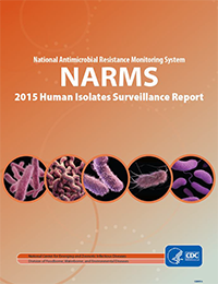 Report cover for NARMS 2015 Human Isolates Surveillance Report