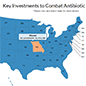 Antibiotic Resistance Investments online tool to learn more about CDC activities to combat antibiotic resistance