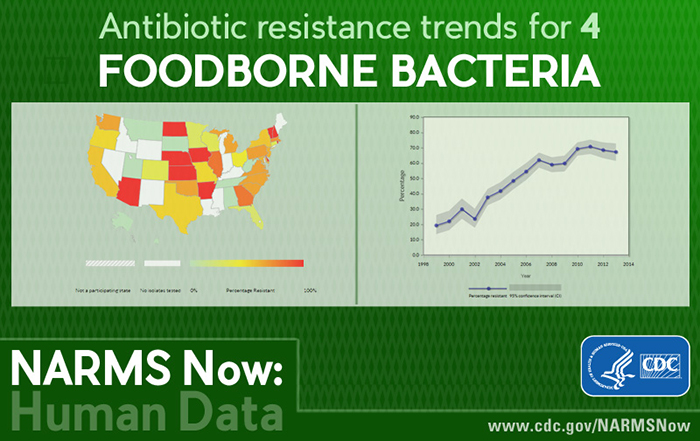 Antibiotic trends for 4 foodborne bacteria is now at your fingertips