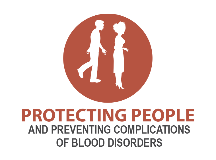 Protecting People and preventing complications of Blood Disorders.