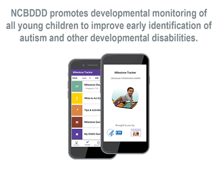 NCBDDD promotes developmental monitoring of all young children to improve early identification of autism and other developmental disabilities.