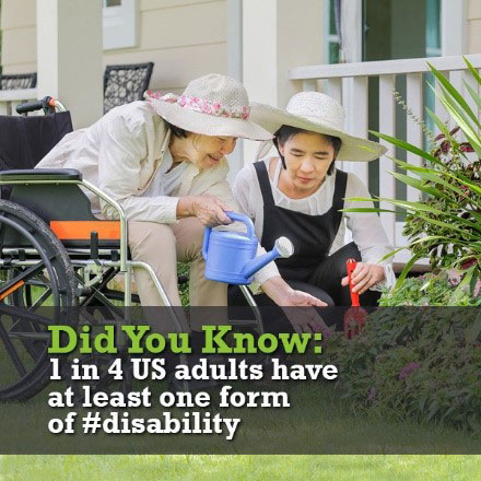 Did You Know: 1 in 4 US adults have at least one form of disability