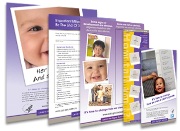 Learn the Signs. Act Early Educational Materials