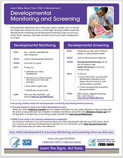 Developmental Monitoring and Screening Fact Sheet