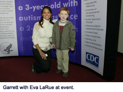Garrett with Eva LaRue at event.