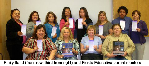 Emily IIland and Fiesta Educativa parent monitors
