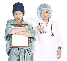 Photo of children pretending to be healthcare providers