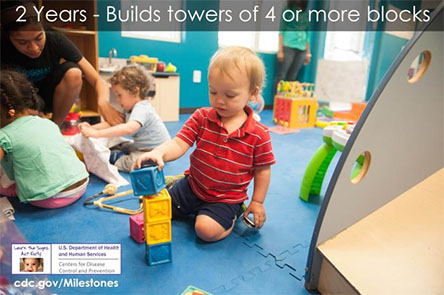 Builds towers of 4 or more blocks