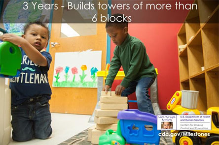 Builds towers of more than 6 blocks