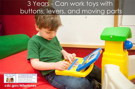 Can work toys with buttons, levers, and moving parts