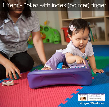 Pokes with index (pointer) finger