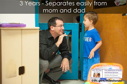 Separates easily from mom and dad