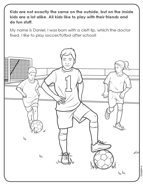 Coloring Page for Soccer thumbnail