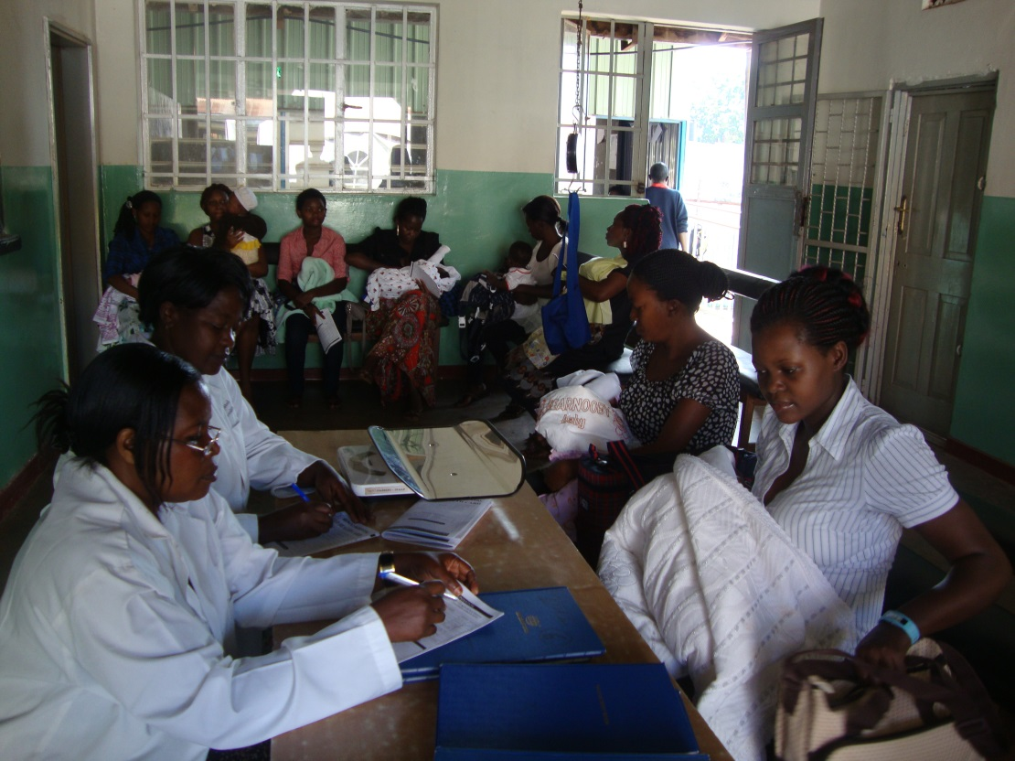 Picture of Individuals attending a health clinic in Kampala, Uganda, Africa
