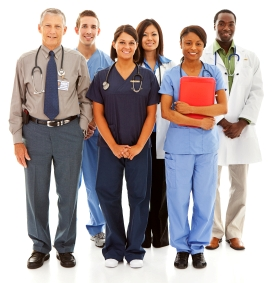 Group of professional healthcare providers