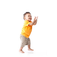 A toddler boy