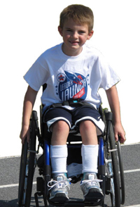 boy in wheelchair