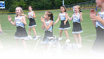 A young cheerleader with cerebral palsy