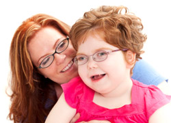 Mom and daughter with a disability