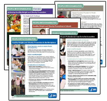 Covers of 3 Persons with Disabilities Fact Sheets
