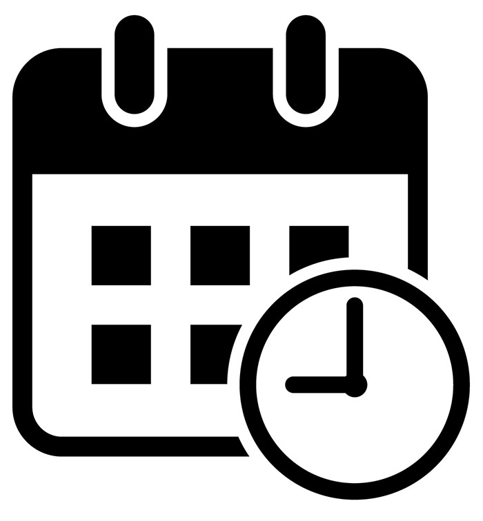 Calendar and clock icon