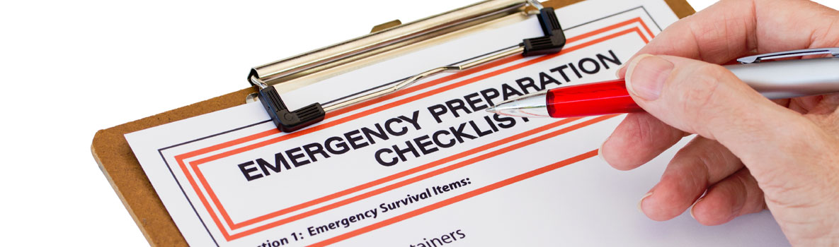 An emergency checklist