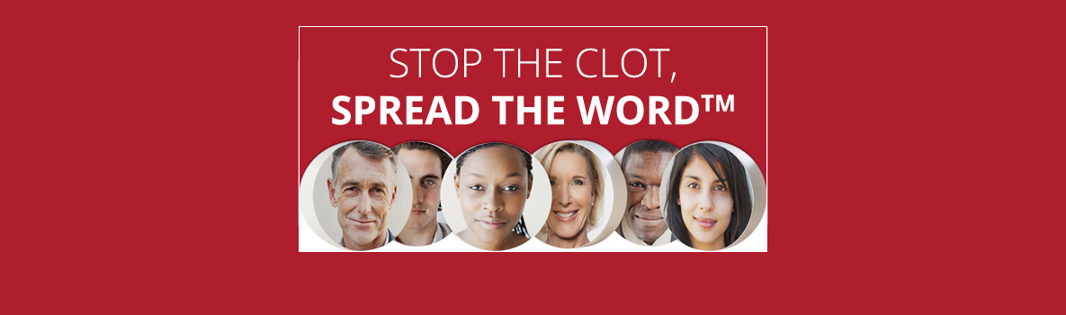 Stop the Clot! campaign logo