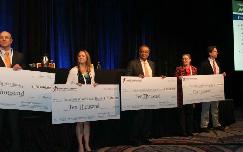 Photo of Several of the 2015 HA-VTE Prevention Challenge Champions