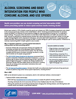 NEW! Alcohol SBI for People Who  Consume Alcohol and Use Opioids